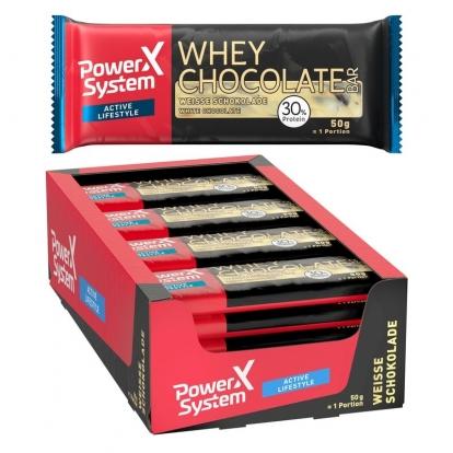 Power System Whey Chocolate baton (biała czekolada) 30% - 50 g