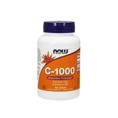 Now Foods Witamina C 1000 z dziką różą 100 tab.