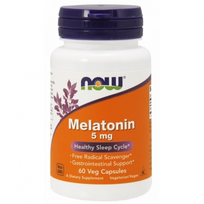 Now foods Melationin 5 mg 60 weg. kaps.