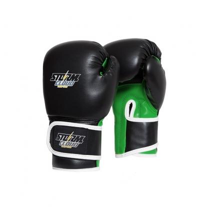 StormCloud Rękawice bokserskie dla dzieci Classic Czarne/Zielone 6OZ