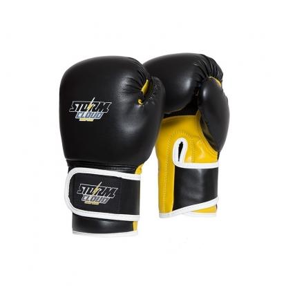 StormCloud Rękawice bokserskie dla dzieci Classic Czarne/Żółte 6OZ