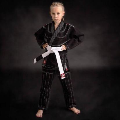 Kimono / GI do BJJ dla dzieci Czarne + pas...