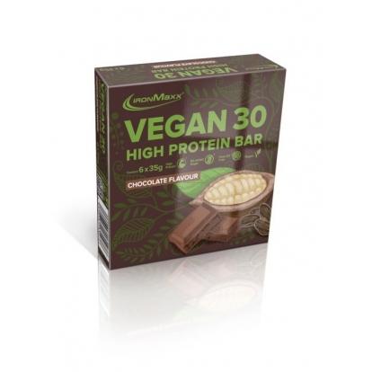 Ironmaxx Vegan 30 - Baton proteinowy wegański 35g czekolada