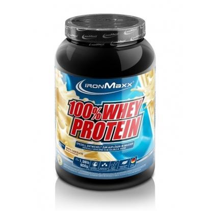 Ironmaxx 100% Whey Protein 900g - odżywka białkowa
