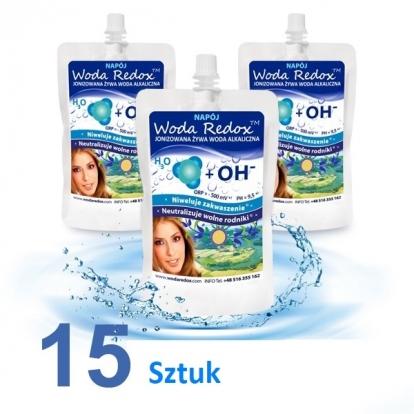 Woda Redox woda alkaliczna elektrolity 15 sztuk x 240m