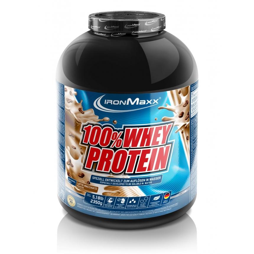 Ironmaxx 100% Whey Protein 2350g, Smak: Latte Machiato